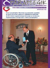 Paraplegik št. 102 - december 2004